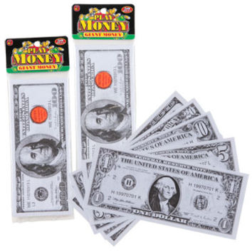 Bulk Giant Play Money, 50-Bill Packs at DollarTree.com