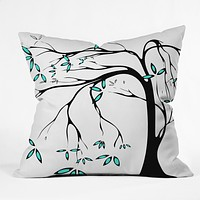 Madart Inc. Garden Delight Aqua Breeze Throw Pillow