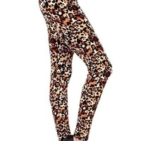 Women's Cheetah Leggings Leopard Animal Print: OS/PLUS