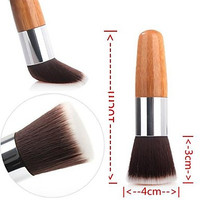 Intionix Shop 1PCS Exquisite Natural Bamboo Handle Blush Brush for Powder/Makeup Base Primer/Foundation/Blush
