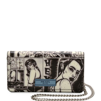 Prada Comic-Print Wallet-on-Chain