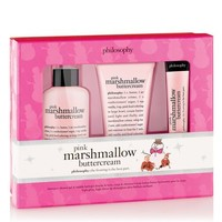 pink marshmallow buttercream   holiday trio   philosophy new!