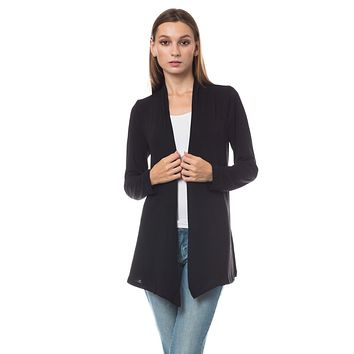 Long Sleeve Open Front Hi Low Shrug Cardigan