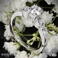 18k White Gold Mark Schneider Yours Truly Diamond Engagement Ring