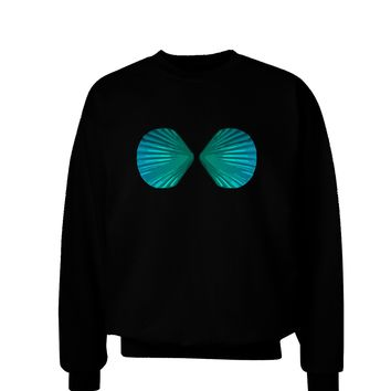 Mermaid Shell Bra Blue Adult Dark Sweatshirt by TooLoud