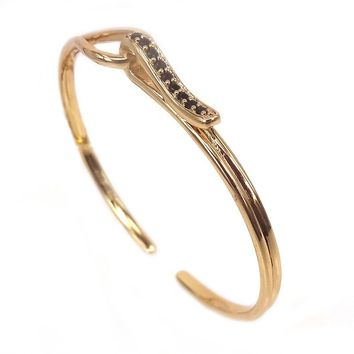 Micro Pave Looped Open Bangle [8 variations]