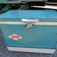 Vintage Coleman Cooler Camping Cooler Mint Cooler Blue Cooler Icebox Vintage Camping Picnic Ware  Green Coleman Cooler Glamping Airstream