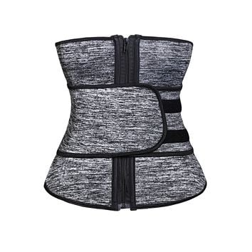 Heathered Neoprene Workout Waist Trainer Belt Body Shaper