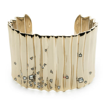 Crystal Studded Pleated Cuff Bracelet | Alexis Bittar