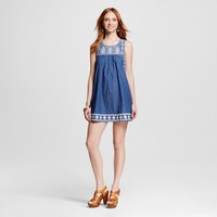 Women's Embroidered Chambray Dress - Blu Pepper (Juniors')