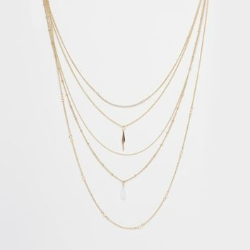 New Look Delicate Layered Necklace at asos.com