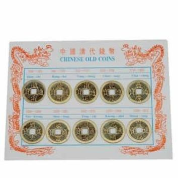 Ancient Chinese Round Coin Square Hole Replica Set 10 pieces
