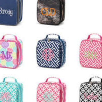 Monogrammed Lunch Bag/ Personalized Lunch Box/ Back to School