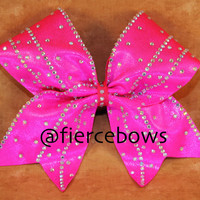 Girly Girl Rhinestone Cheer Bow