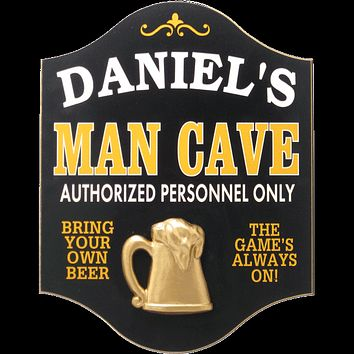Personalized Man Cave Wood Sign