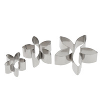 12pcs Stainless Steel Cake Fondant Cookie Biscuit Candy Mould Mold Cutters Flower Petal Shapes DIY Decorating Tools Baking Kit