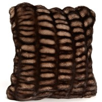 Shadow Mink Faux Fur Pillows by Fabulous Furs