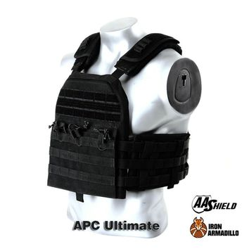 APC Armadillo Plate Carrier Ballistic Tactical Molle Gear Body Armor 10X12 Black Bullet Proof Vest IIIA Soft Armor Variety Kit