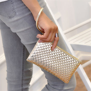 New 2016 Fashion Famous Brand Design Women Bags wristlet Cute Small Women Clutch purse and Handbags Phone Top PU Leather Bags !