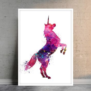 Unicorn Print Unicorn Wall Art Floral Unicorn Wall Decor Nursery Wall Decor Fantasy Wall Art Unicorn Nursery Print Nursery Unicron Wall Art -64