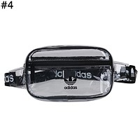 ADIDAS Tide brand fashion men and women models chest bag pockets transparent Messenger bag #4