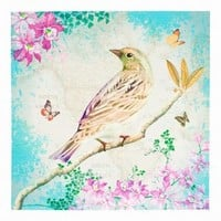 Wake Up Frankie - Birds and Butterflies Canvas Art