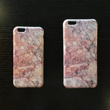 Cool Pink Marble iPhone 6 6s Plus Case