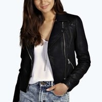 Annie Quilted Faux Leather Biker