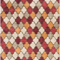 Brilliance Area Rug Red