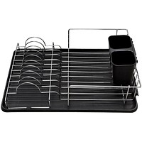 Deluxe Chrome Dish Drainer - Black - 6 Units Value Pack