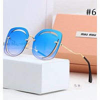 MIUMIU 2018 new gradient gray female frameless color film sunglasses F-A-SDYJ #6