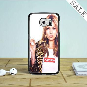 kate moss supreme leopard Samsung Galaxy S6 Case