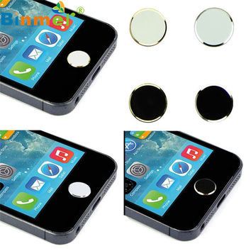 Best Quality Original Binmer 2 Pcs Metal Home Button Keypad Sticker Key Post for iPhone 4 4S 5 5S 6 6S For iPad Aug 06