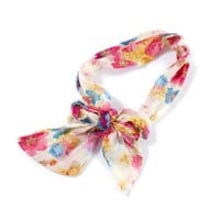 Watercolor Floral Bow 3 in 1 Headwrap  | Icing
