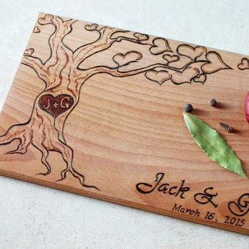 board, Wedding cutting board, Anniversary cutting board, Wedding gift ...