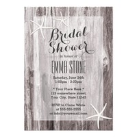 Rustic Beach Driftwood & Starfish Bridal Shower