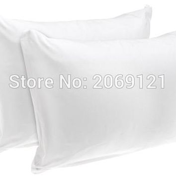 "Queen Size 21*31"" Bedbug Proof Hypoallergenic 100% Waterproof Smooth Pillow Protector Zippered Style -Set of 2"