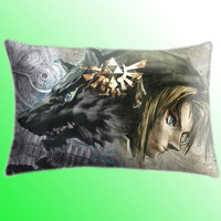 "The Legend of Zelda Triforce Color Cover Pillow Size 30"" x 20"""