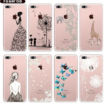 Elephant Butterfly Dandelion Patterned Soft Silicone TPU Phone C 26616b0b23