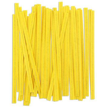 Yellow Paper Twist Ties