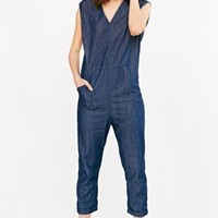 Silence + Noise Exaggerated Jumpsuit- Indigo