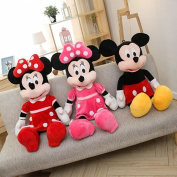 Hot Sale 100cm High Quality Stuffed Mickey&Minnie Mouse Plush Toy Dolls Birthday Wedding Gifts For Kids Baby Children