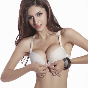 New Fashion Size Brassiere C Cup Front Closure Sexy Seamless Adjustable push up Bras Women Cotton Bra Underwear#NY01102