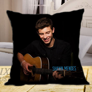 The Shawn Mendes AR on square pillow cover 16inch 18inch 20inch