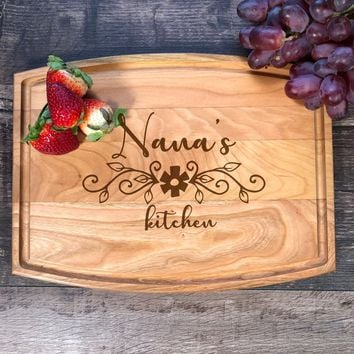 Custom Cutting Board. Nana's Kitchen. Personalized Gift. Cutting Board. Handmade. Wood. Cutting Board. Grandma. Granny. Mother's Day. #49