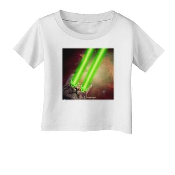 Laser Eyes Cat in Space Design Infant T-Shirt by TooLoud