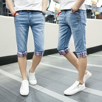 Summer Good Quality Straight Denim Casual Cotton Men Shorts Jeans,2017 New Arrival Fashion Hot Sale Jeans Men Shorts,1025K