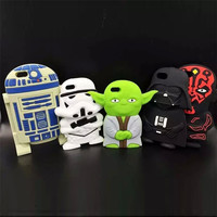 Brand New Hot Star Wars Master Yoda Darth Vader Soft Silicone Phone Cases Cover For iPhone 7 7Plus 4G 4S 5 5G 5S SE 6 6S 6Plus