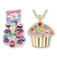 Cupcake Cuties Enamel Pendant Necklace in Figural Gift Box (Sold Individually)