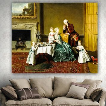 Royal Queen Palace Oil Painting Home Decor tapestry beach throw towel high quality tapestries